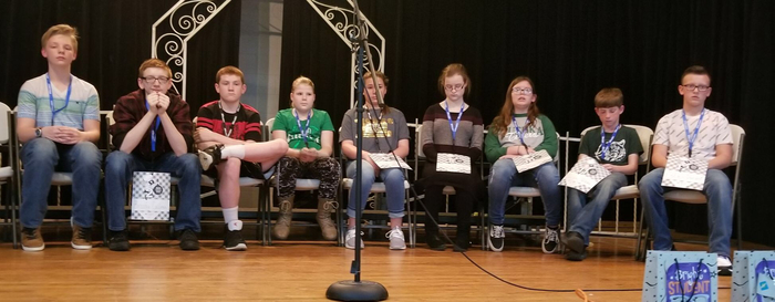 Participants from around and outside Bryan County come to participate in the 2019 Regional Spelling Bee Competition
