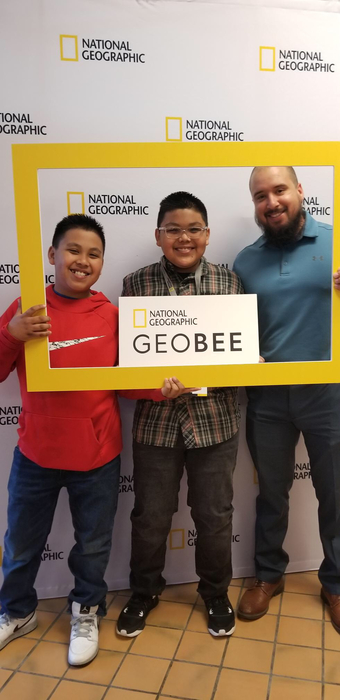 Daniel and family at the state Geography Bee in Norman Oklahoma
